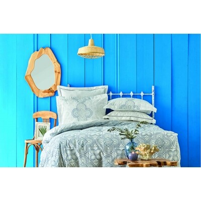 ​Karaca Home Anemos Blue Rnf Cotton 6 Piece Duvet Cover Set