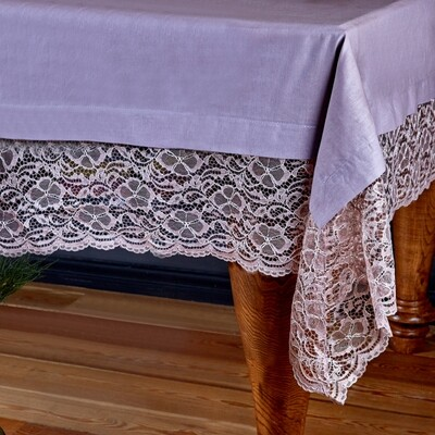 Karaca Home Juliet Dried Rose Lace Tablecloth