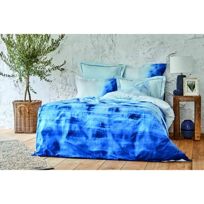 ​Karaca Home Batis Blue Cotton Double 6 Piece Duvet Cover Set