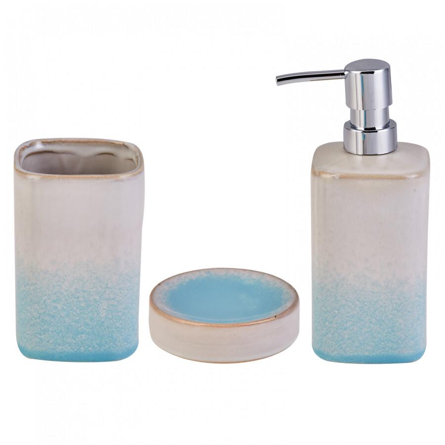 Karaca 3-Piece Blue Bath Set