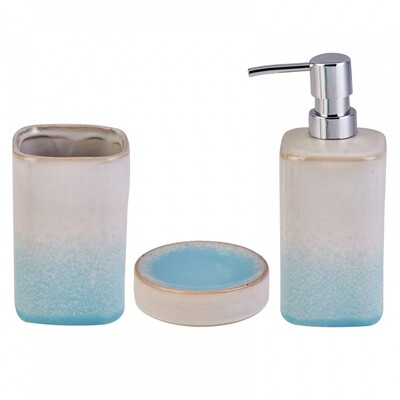 Karaca 3-Piece Blue Bath Set