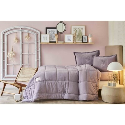 Karaca Home Toffee Lila Single Cotton Comfort Set
