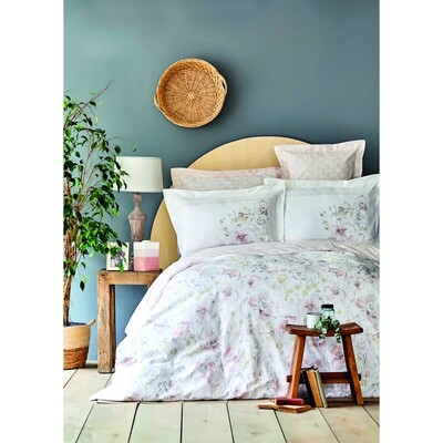 ​Karaca Home Milner Powder Cotton Double Duvet Cover Set