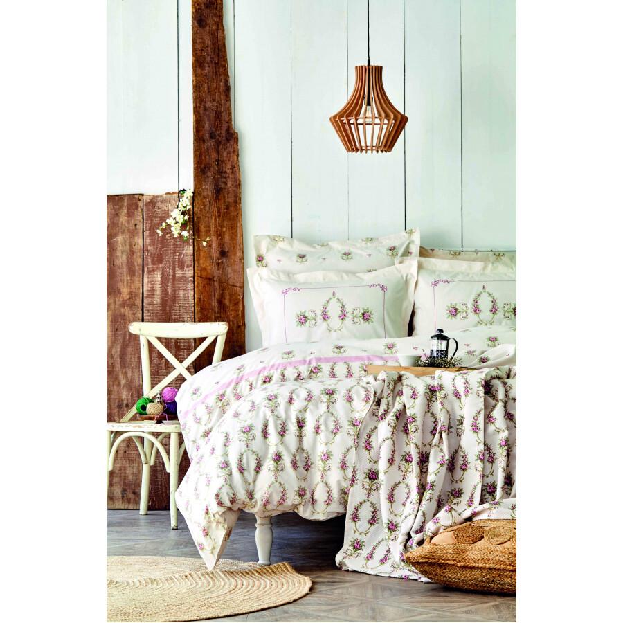 Karaca Home Alfia Powder Cotton Single Duvet Cover Set + Piqué Gift