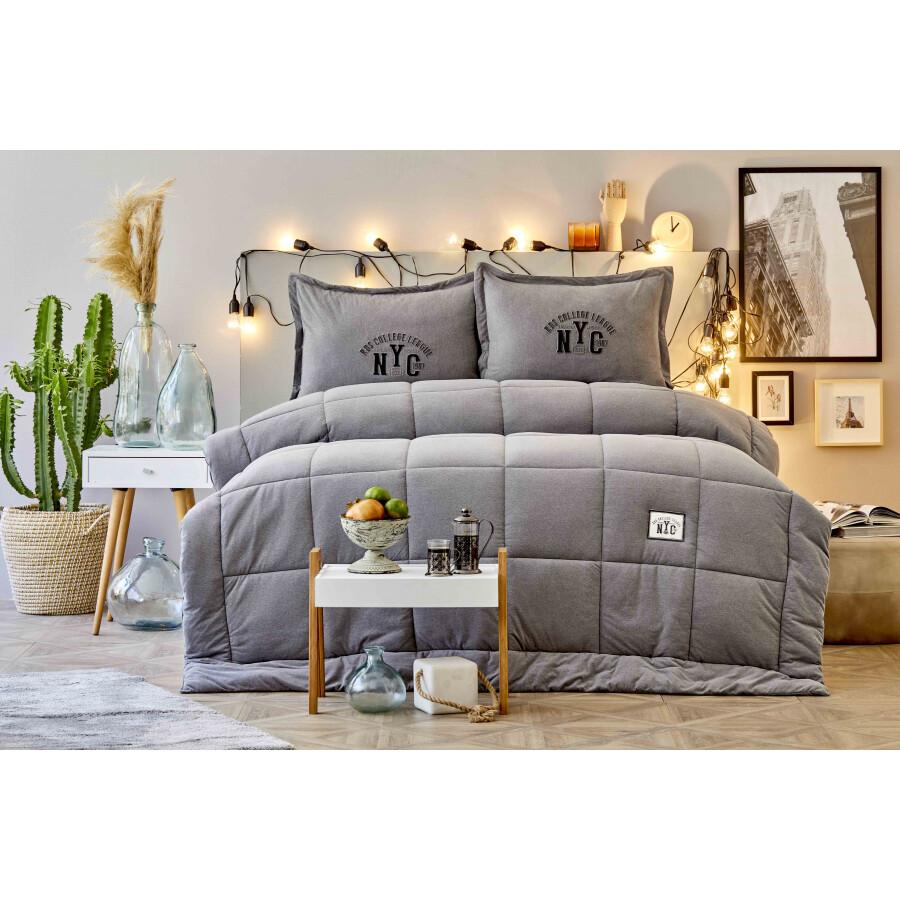 Karaca Home Toffee Gray Double Cotton Comfort Set
