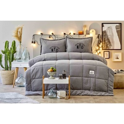 ​Karaca Home Toffee Gray Double Cotton Comfort Set