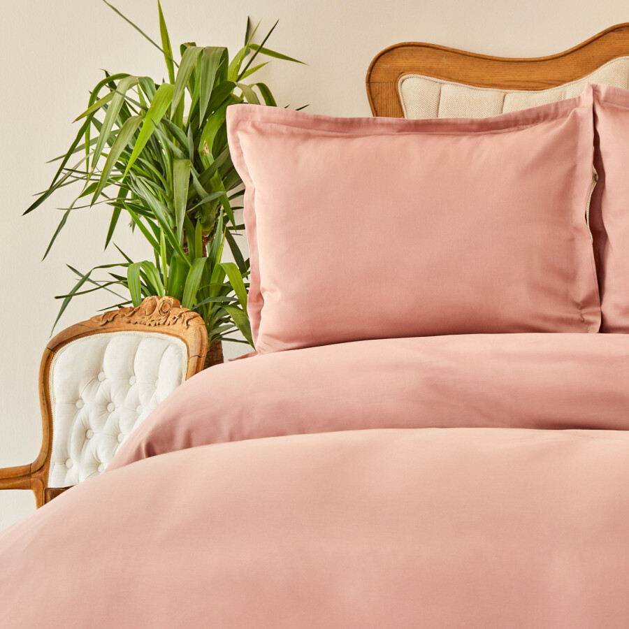 Sarah Anderson WILLOW PUDRA 2 PERSON SATEN LINENS SET