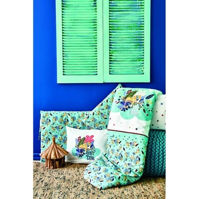 Karaca Home Bummer Indigo Cotton Baby Sleep Set - BEBEK UYKU SETI
