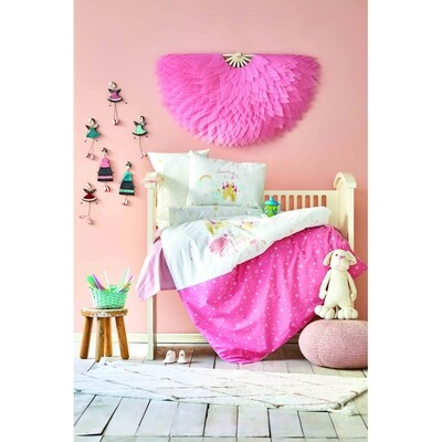 ​Karaca Home Lovable Cotton Powder Baby Duvet Cover Set
