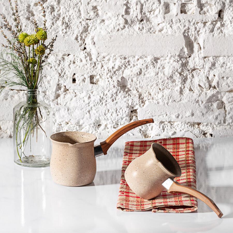 Karaca Bio Granite Forest Turkish Coffee Pot Set  CEZVE SET