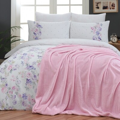 ​Sarah Anderson Destini Double Ultrasoft Blanket Duvet Cover Set