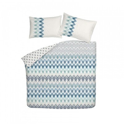 ​Sarah Anderson Etnico Blue Double Duvet Cover and Pillowcase Set