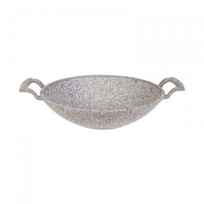 KARACA DARK SILVER BIO GRANIT 30 CM SAC TAVA Wok Frying Pan