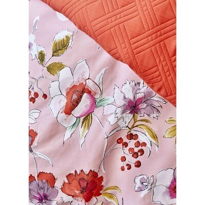 ​Karaca Home Elia Pink Rnf Duvet Cover and Bed Cover Set