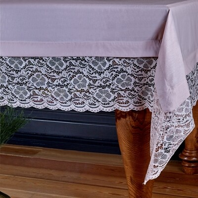 Karaca Home Juliet Powder Lace Tablecloth 160x240 cm