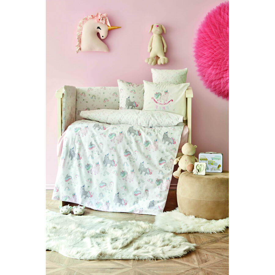 ​Karaca Home Digna Pink Cotton Baby Sleep Set - BEBEK UYKU SETI