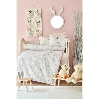 Karaca Home Doe Pink Cotton Baby Sleep Set - BEBEK UYKU SETI