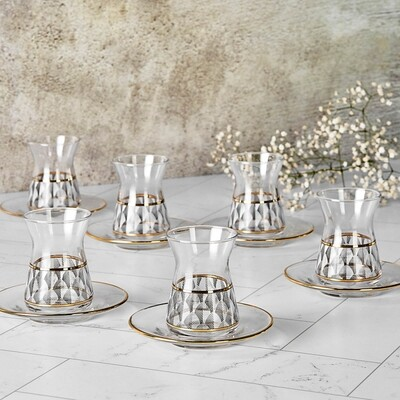 KARACA NINO 12 PIECES TURKISH TEA SET
