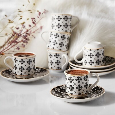 APRICOT EYLEM 6 PERSONTURKISH COFFEE SET