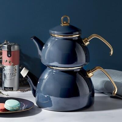 Karaca Retro Enamel Anthracite Tea pot  CAYDANLIK ANTRASIT