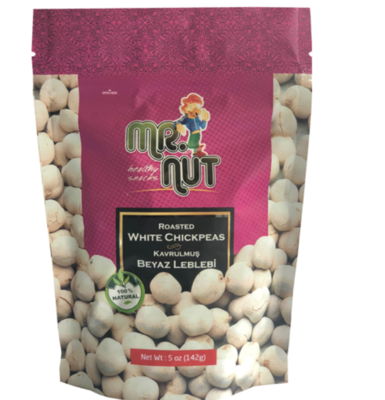 Roasted White Chickpeas by Mr. nuts 5oz Beyaz leblebi