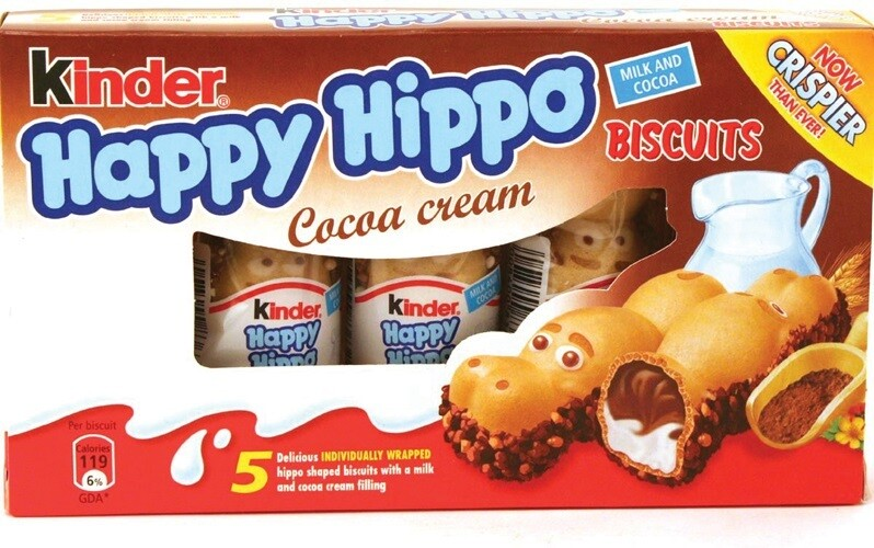 KINDER HAPPY HIPPO COCOA 20.7Gx5