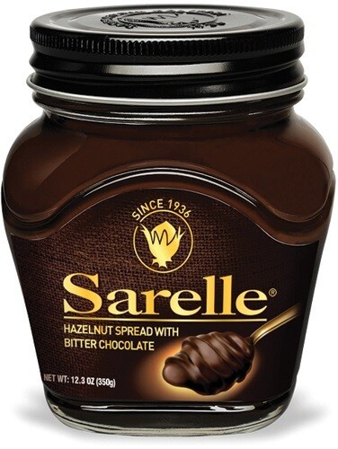 SARELLE HAZELNUT SPREAD W BITTER CHOCOLATE 350G
