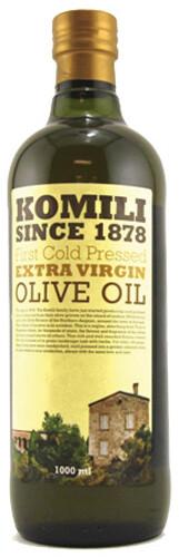 KOMILI EXTRA VIRGIN OLIVE OIL (FIRST COLD PRESSED) 1LT GLASS