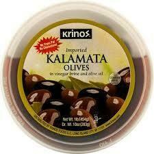 Krinos Kalamata Olives in brine 16 oz cups