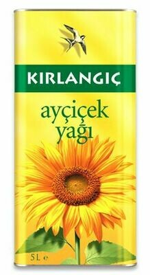 Kirlangic Sunflower Oil 5 lt tins