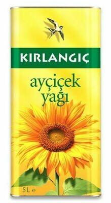 Kirlangic Sunflower Oil 5 lt tins