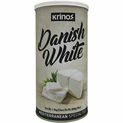 KRINOS Danish White Cheese - NEW! 800g tin - Mediterranean Style