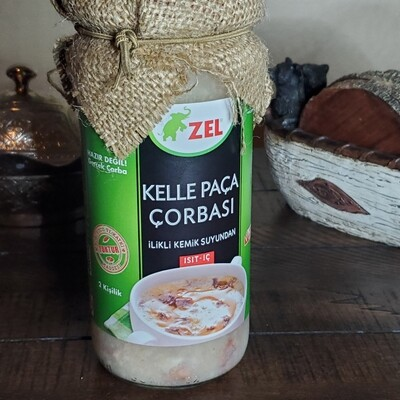 ZEL Kelle Paca Corbasi - Sheep Head and Foot Soup, 480ml - 16.23oz -  Halal