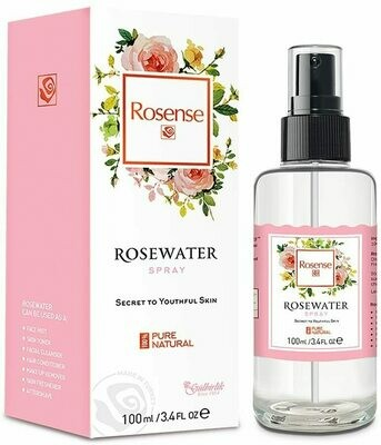 Rosense Gulbirlik Rose Water Spray Glass Bottle 100ml - Product of Turkey