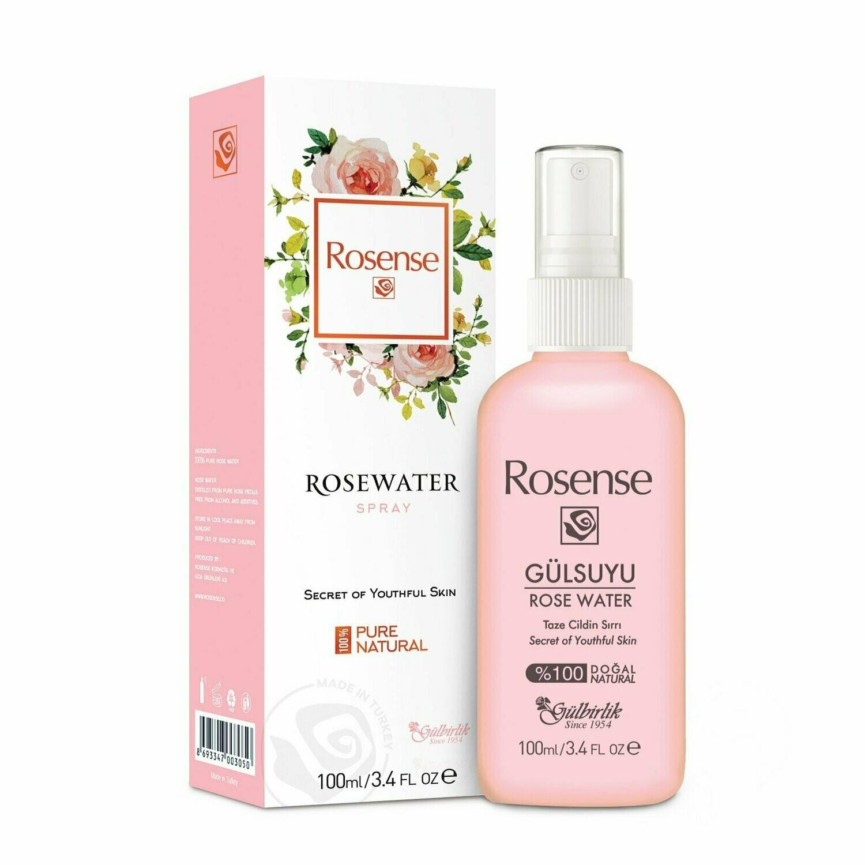 Rosense Gulbirlik Rose Water Spray Toner 100ml - Product of Turkey