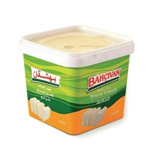 Bahcivan Full Fat white cheese cow SLICED FETA 420GR