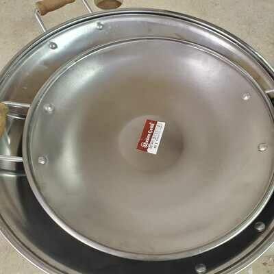 Steel Sac Kavurma Tavasi 45  cm  (Uzum Celik)
