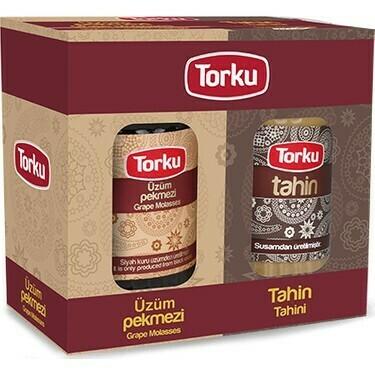 Torku Molasses and  Tahini Twin Pack 750gr Glass