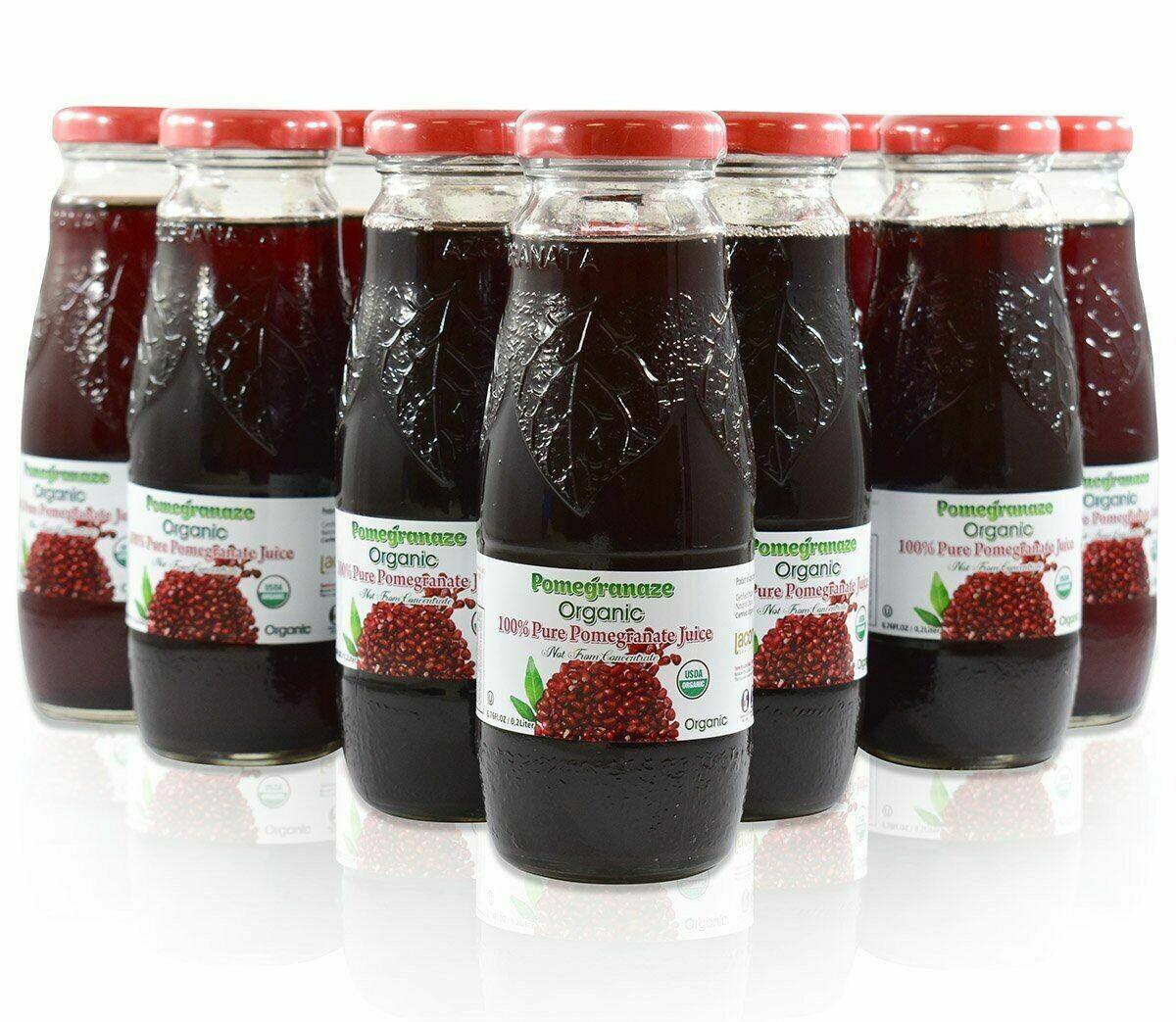 Organic Pomegranate Juice 200ML Glass