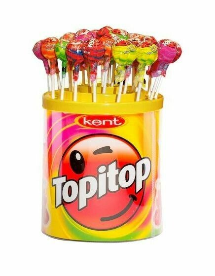 TOPITOP FRUITY HARD CANDY / MEYVELI SEKER 11GR Lolipop