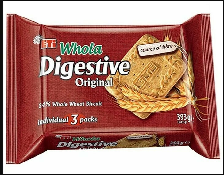 Eti WHOLA DIGESTIVE WHOLE WHEAT BISCUIT 393 GR