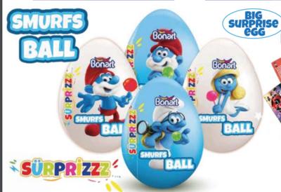 Bonart Big Suprise Egg Smurfs or Lonely tunes