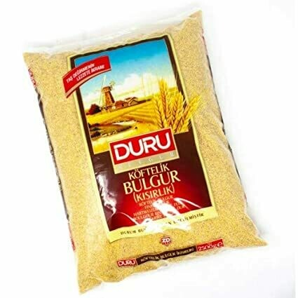 Duru Fine Bulgur kisirlik ve cig koftelik 2.5KG