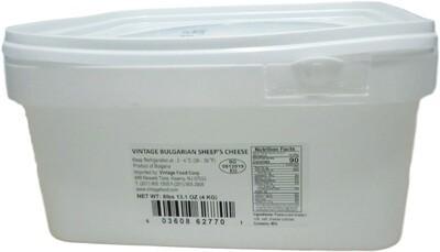 VINTAGE BULGARIAN SHEEP FETA 4KG PLASTIC