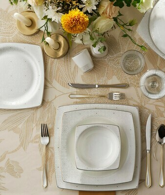 KARACA FINE BONE MANDY 60 PIECES DINNERWARE  SQUARE