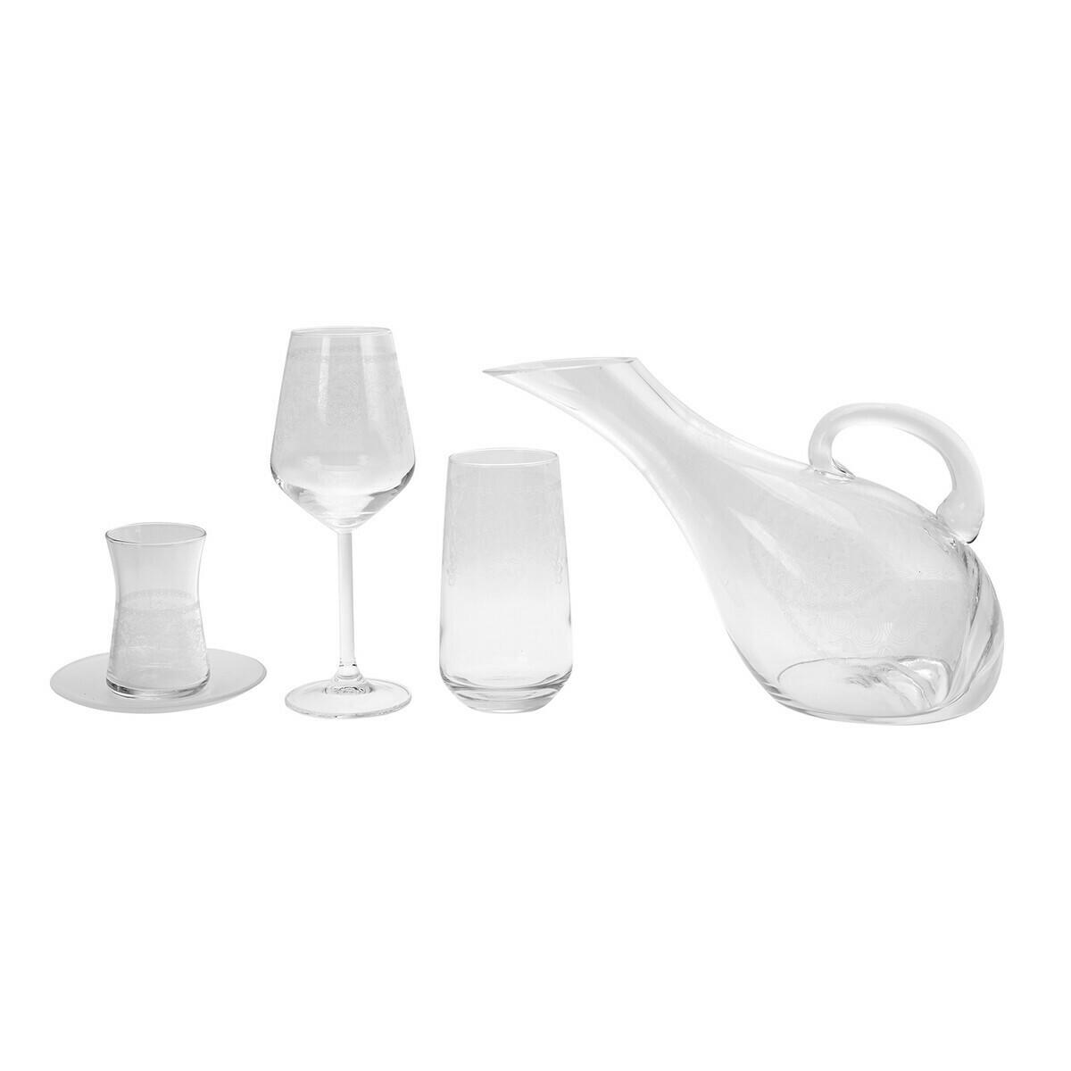 KARACA 49 PIECES GLASS SET NEKLUS YALDIZSIZ AKBY