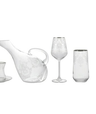 KARACA FINE PEARL HELEN 49 PIECES GLASS SET PLATİN HYL