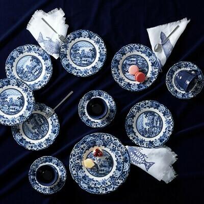 KARACA BLUE ODYSSEY 19 PIECES CAKE SET