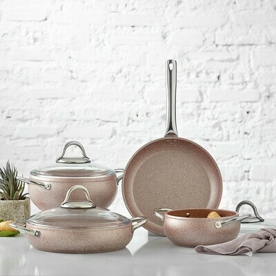 KARACA AVANOS ROSE BIO GRANIT 7 Pieces SET