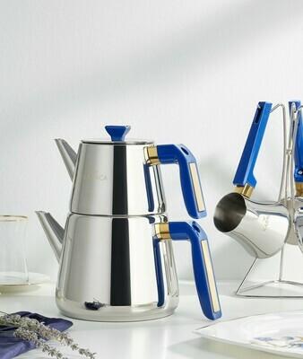 KARACA PIRAMIT TEA POT MEDIUM DARK BLUE TEA POT